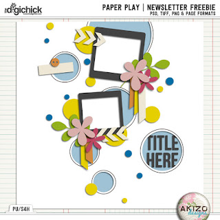 Paper Play  News Letter Freebie by Akizo Designs