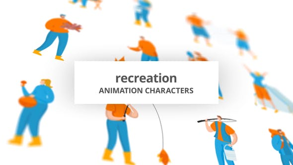 Recreation – Character Set[Videohive][After Effects][29102495]