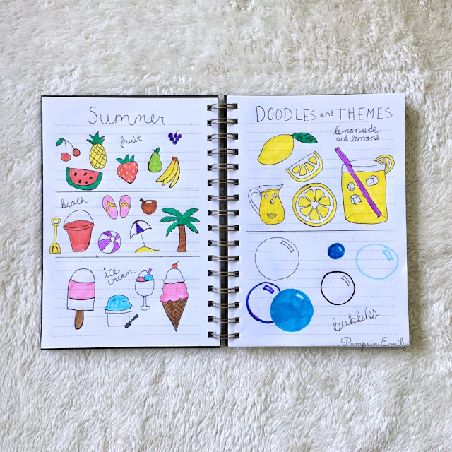Summer Bullet Journal Themes & Summer Doodle Ideas