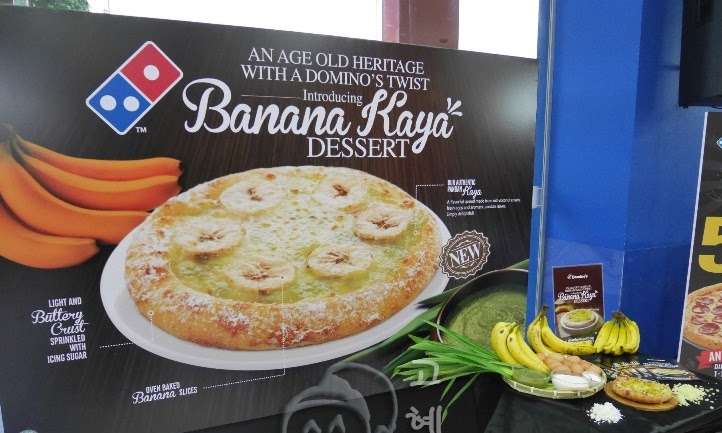 Domino's SG50 launch: New Banana Kaya Dessert