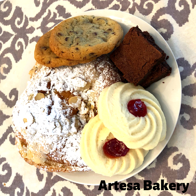 Incredible pastry plate to nibble on at Artesa Bakery in Homer Glen, Illinois