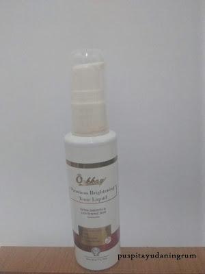Orkkay tonic liquid untuk membuat kulit menjadi tampak cerah