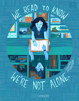"""We read to know we're not alone"" poster by Simini Blocker"