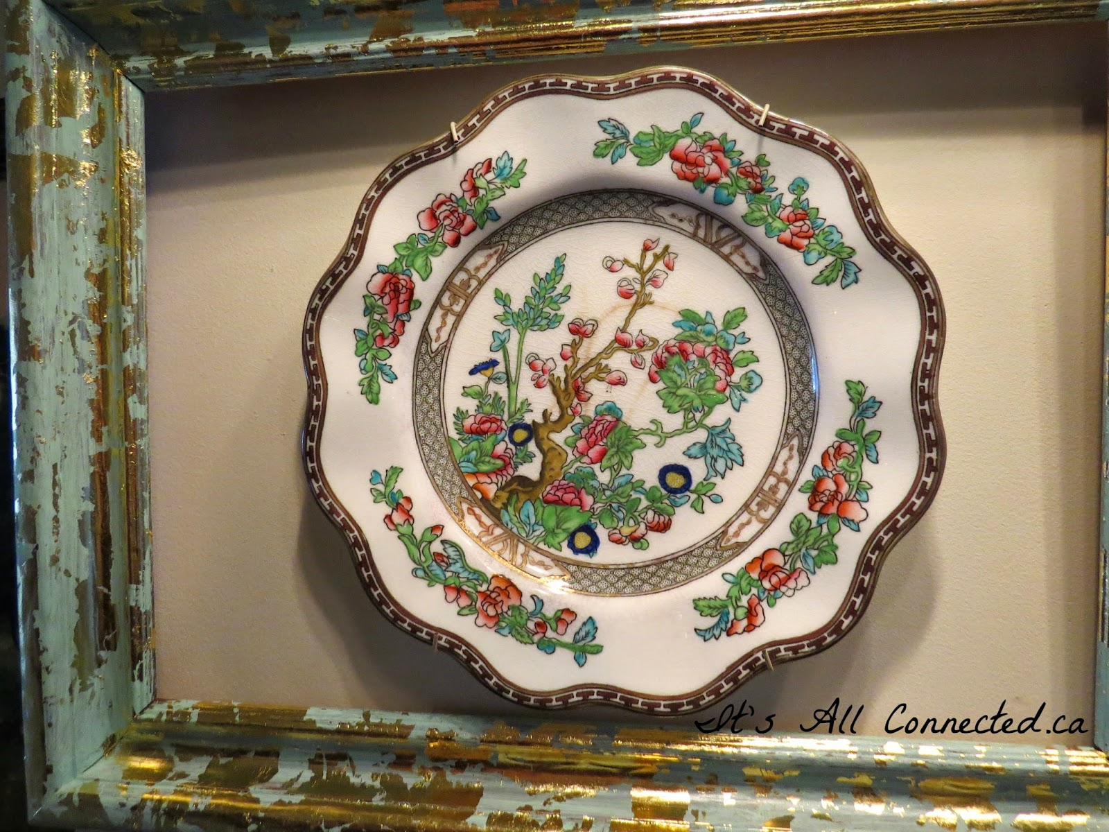 It's All Connected: Framing A Decorative Plate