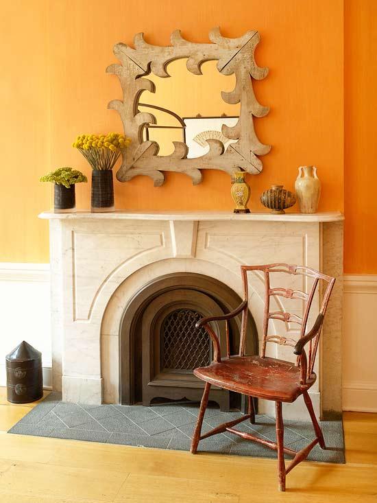Orange Decorating Ideas For Living Room
