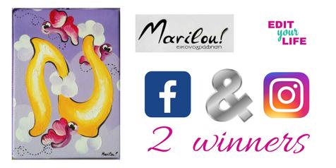 Διαγωνισμός με 2 δώρα από marilou art και edityourlifemag.gr