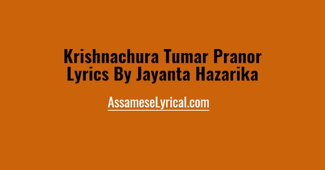Krishnachura Tumar Pranor Lyrics