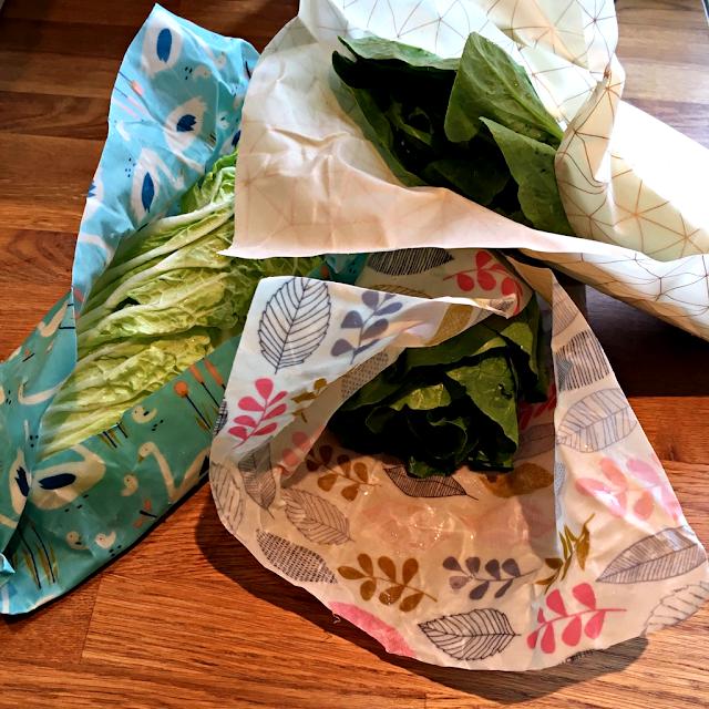 Bivokspapir til oppbevaring av bladgrønnsaker