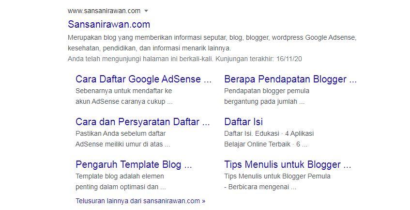 5 Cara Mendapatkan Sitelink Google dengan Cara Alami