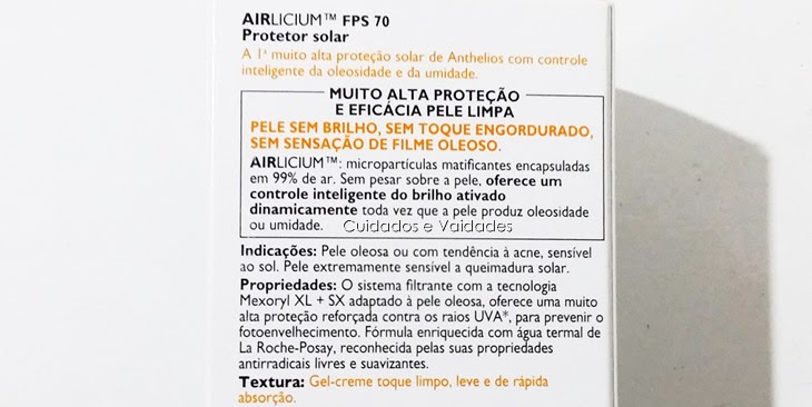 Anthelios Airlicium FPS 70 La Roche Posay