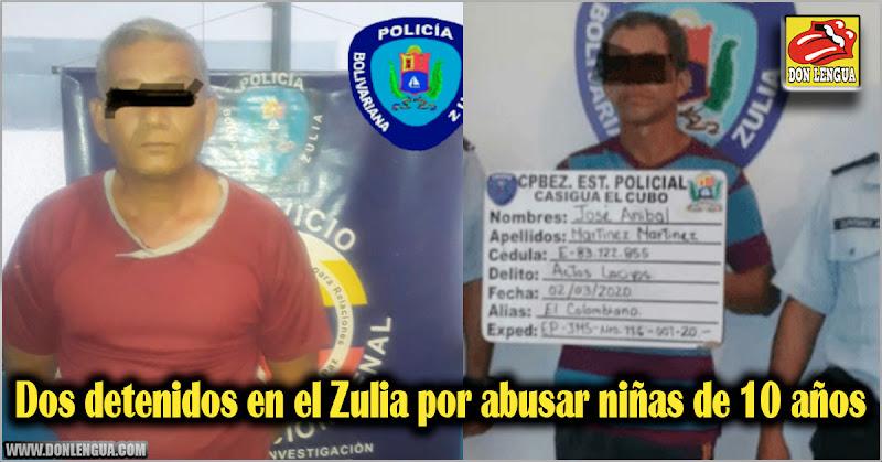 Dos detenidos en el Zulia por abusar niñas de 10 años