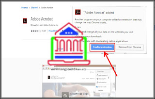install Adobe Acrobat dalam browser Google Chrome
