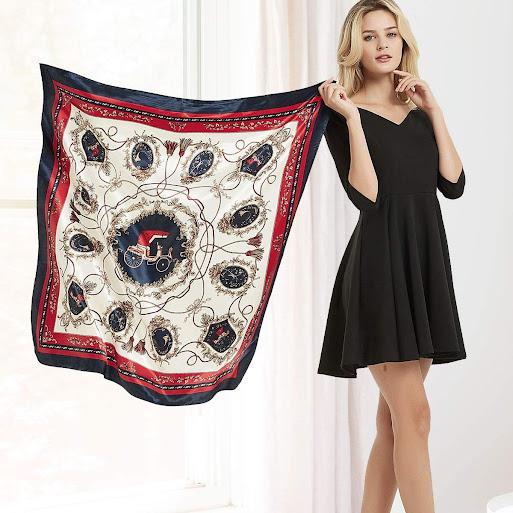 Cheap Designer Silk Satin Scarves
