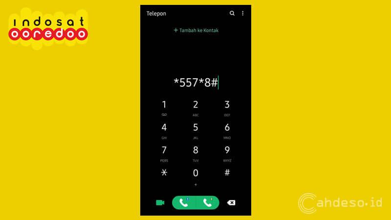 Cek Pulsa OnNet Indosat via Menu Dial Up