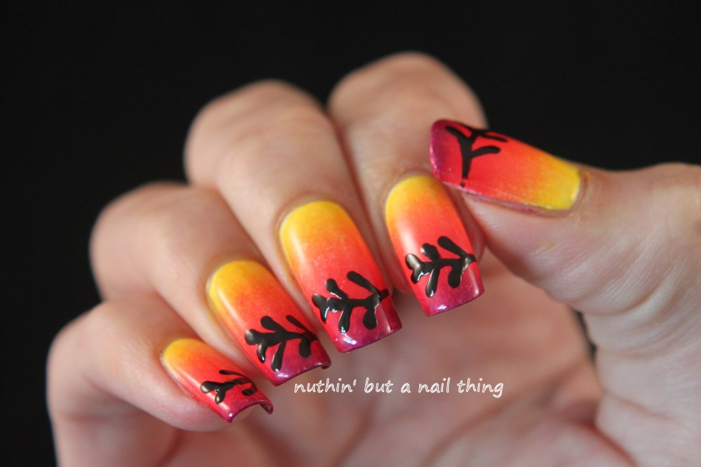 autumn nail art tutorial gradient design ideas