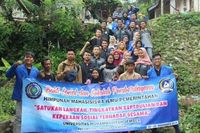 Himata adakan bhakti sosial di dusun Manggisan, Desa kalitengah, Kecamatan Tanggul, Kabupaten Jember