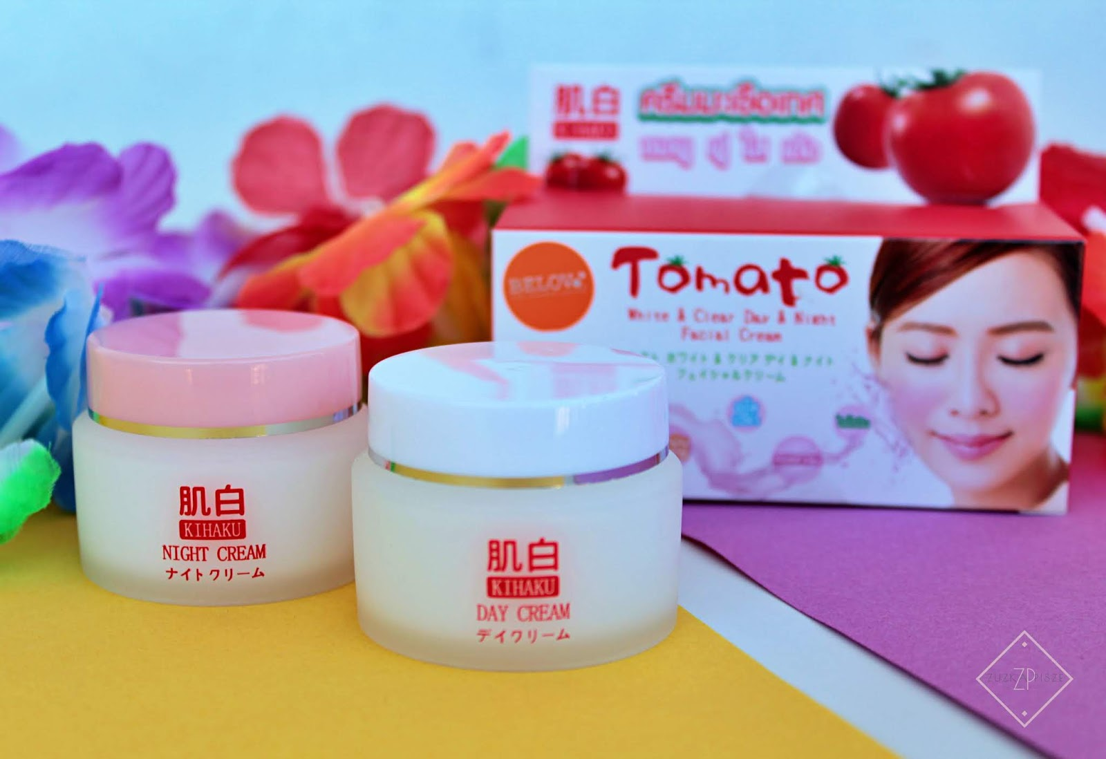 KIHAKU TOMATO WHITE&CLEAR DAY&NIGHT FACIAL CREAM (SPF30)