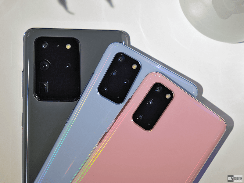 S20 Ultra, S20+ and S20 rear cameras