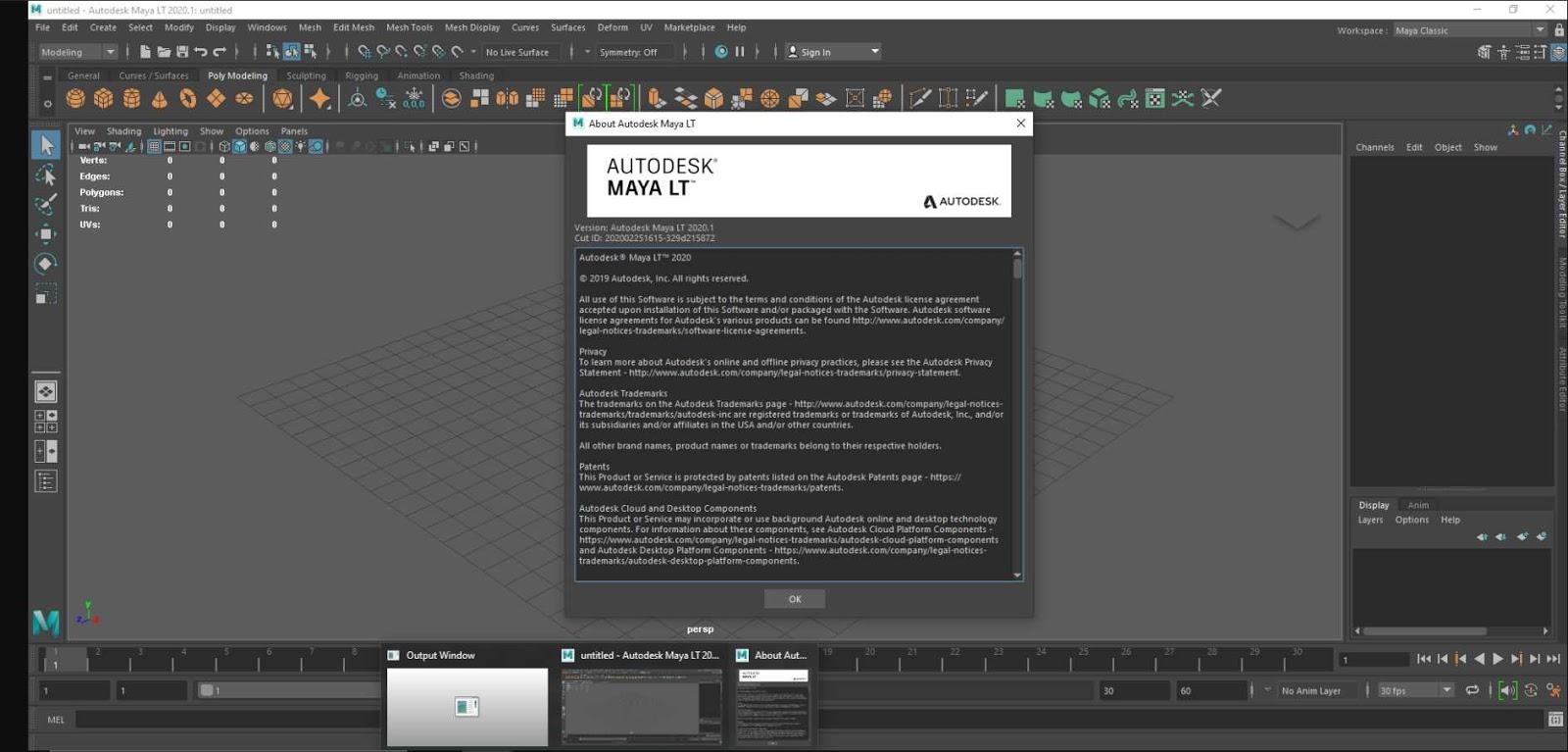 Autodesk Maya LT 2020.1