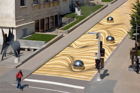Ilusão de Ótica faz rua virar dunas de areia no Canadá - Img 4