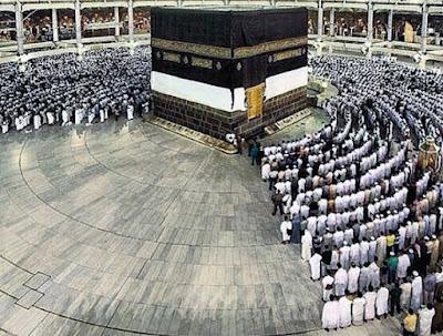 Gambar Ka'bah di Masjidil Haram, Mekah