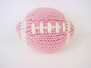 mini, pink, football, girl, newborn, photography, prop, toy, etsy, stuffed, knit