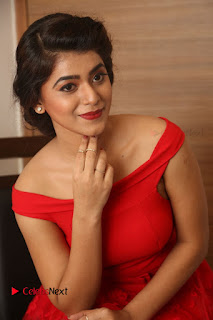 Actress Yamini Bhaskar Latest Pictures in Red Dress at 100 Days of Love Movie Audio Launch  0094