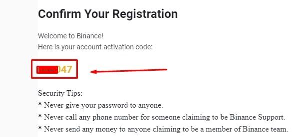 Kode verifikasi email