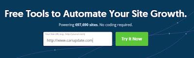 Ketikkan alamat websitemu