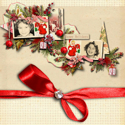 Vintage christmas layout