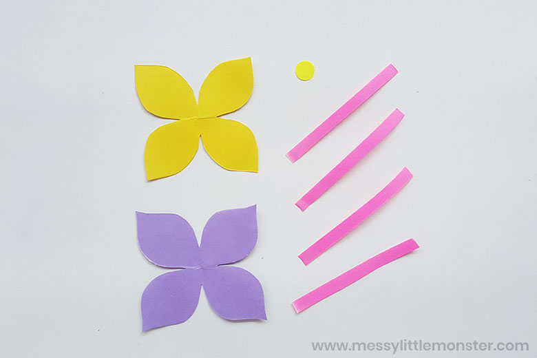 paper flower craft template