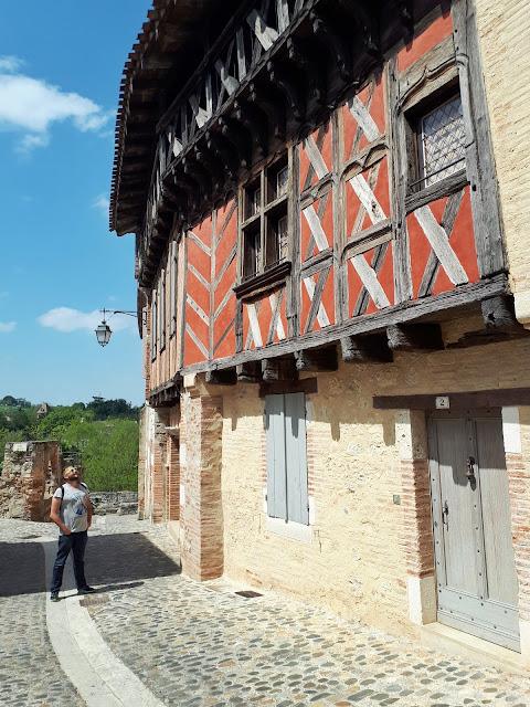Half timbered house in Auvillar, Tarn et Garonne