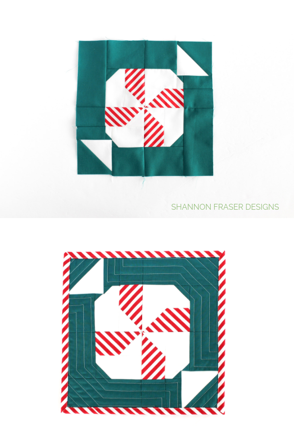 Quilted Mint Sweet Block | Love Patchwork & Quiltling #gingerbreadQAL | Shannon Fraser Designs