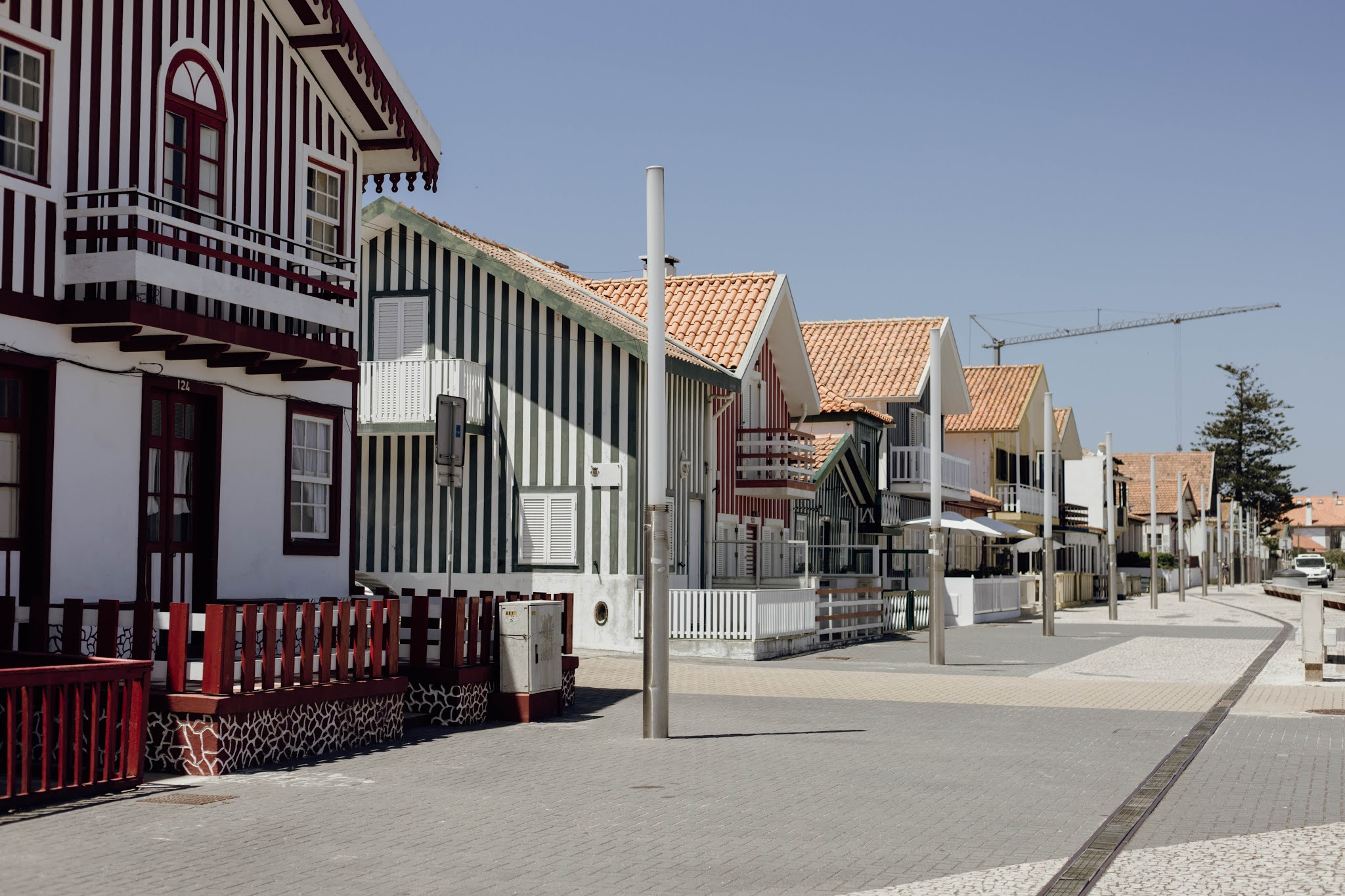 Casas da Costa Nova em Aveiro, Portugal