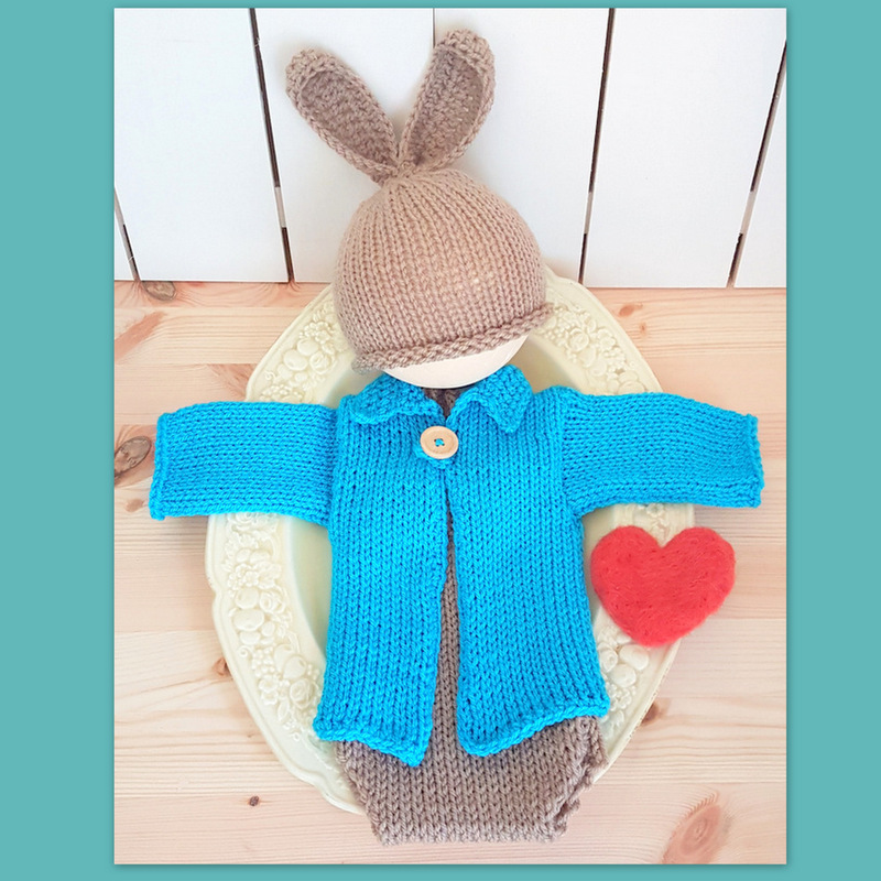 Baby Bunny Rabbit outfit – Crafty Stuff Baby Knits