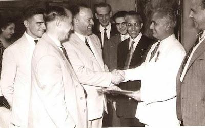 1951 - Visita del equipo lisboeta al local social del Club Ajedrez Ruy López Tívoli 07
