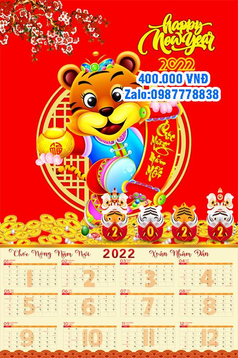 Bìa Lịch Tết 2022