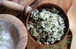 Receta de arroz con espinaca