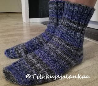 villasukat, perussukat, katia socks riff