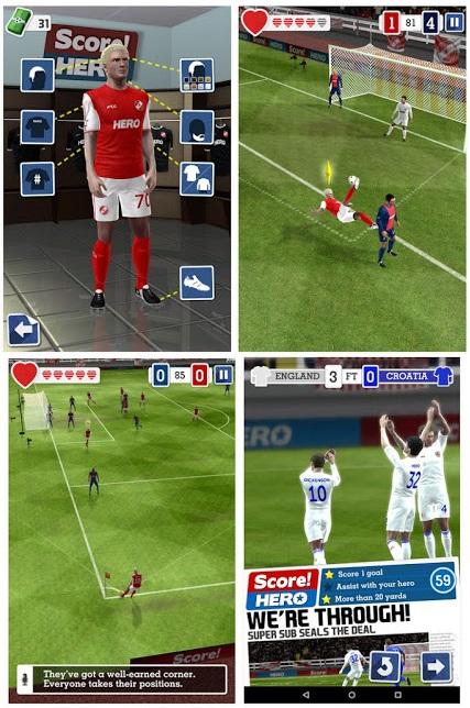 kini ada lagi game sepak bola yang sanggup teman miliki secara gratis adalah Score Hero Score! Hero MOD APK Terbaru v1.77 (Unlimited Energy+Coins) Update!