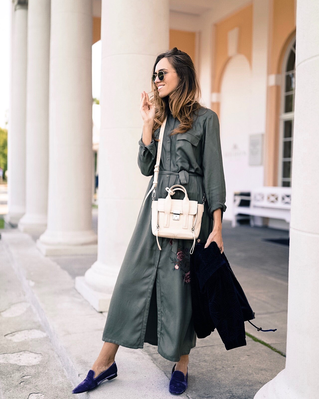 kristjaana long shirt dress outfit