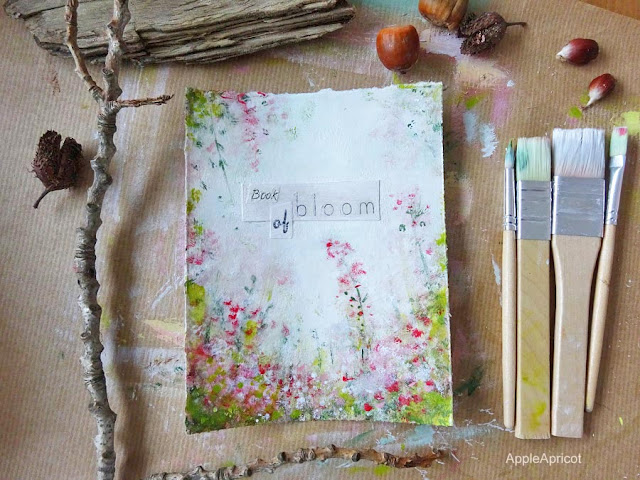 Book of Bloom front cover of art journal WIP by AppleApricot