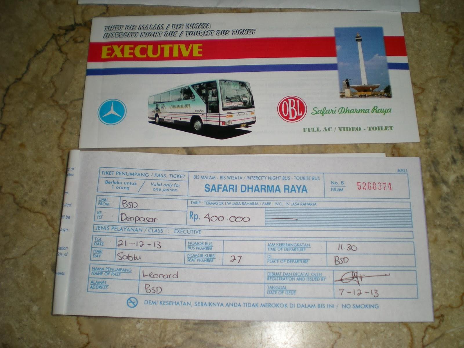 Liburan Natal Ke Bali Naik Bus Malam Safari Dharma Raya Obl