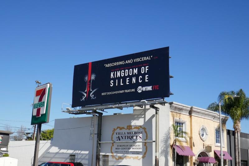 Kingdom of Silence FYC billboard