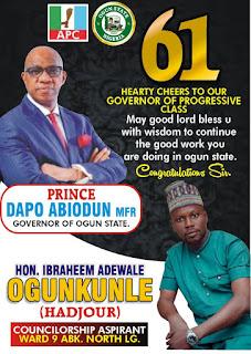 Two Years In Office : Ogun Councilorship Aspirant Celebrates Gov Abiodun