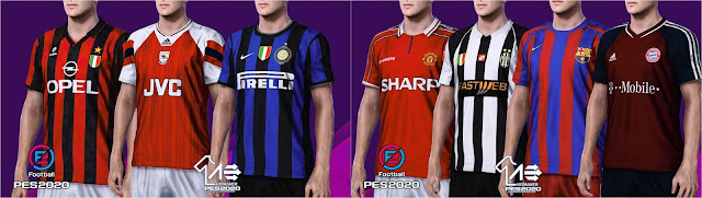 PES 2020 Classic Kits Pack by AerialEdson