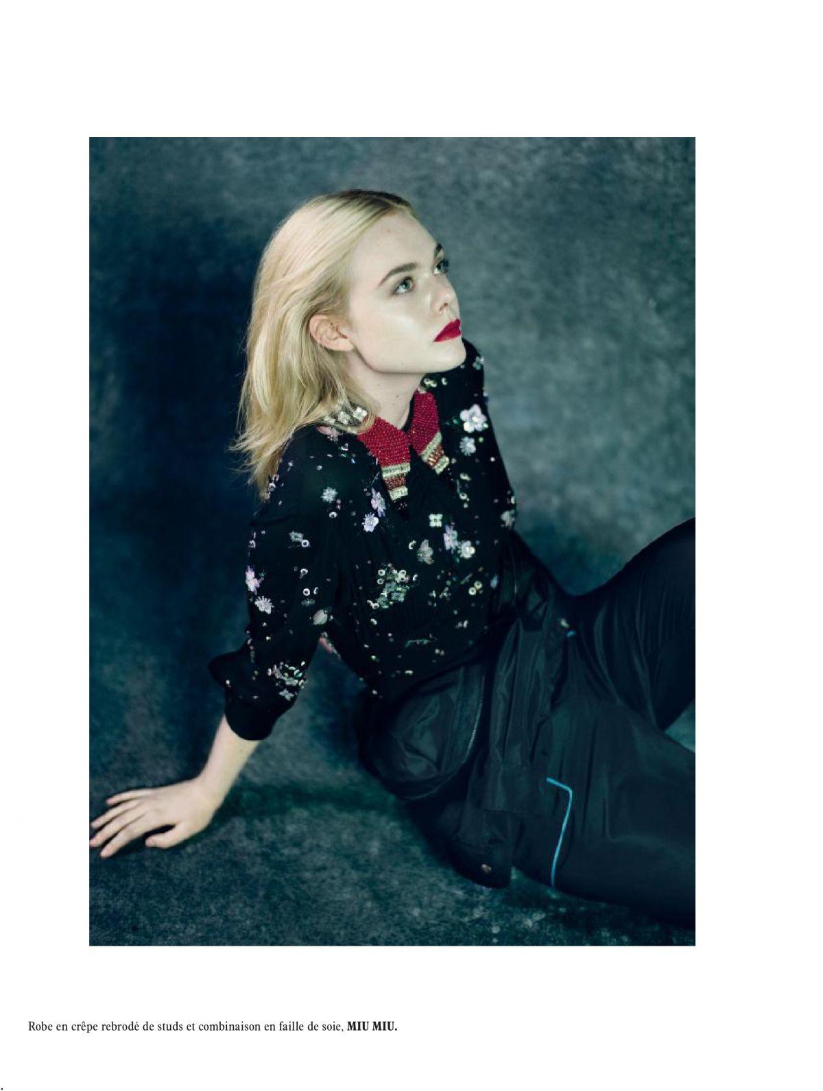 Elle Fanning Photoshoot for L'Officiel Paris, December/January 2017-2018