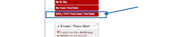 My NOUN Exam Timetable