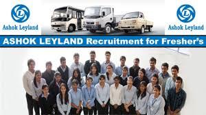 ITI Diploma Jobs Vacancy in Ashok Leyland Company, Salary Diploma 15,000/- & ITI - 14000/-, Apply Online