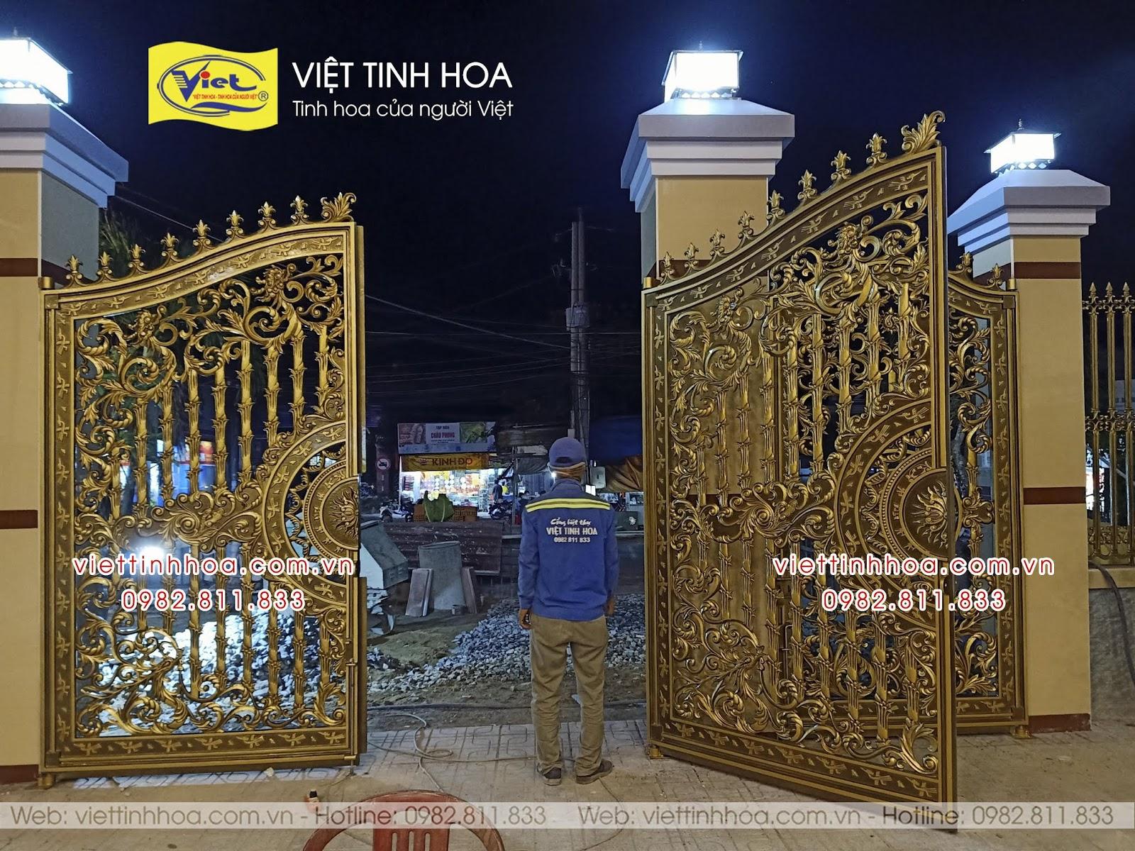 Cổng Nhôm Đúc Hàm Thuận Nam